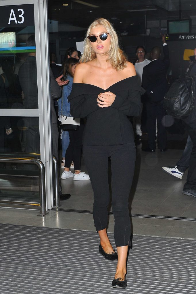 Elsa Hosk Arrives at the Cote D'Azur Airport in Nice-2
