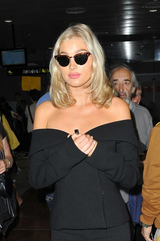 Elsa Hosk Arrives at the Cote D'Azur Airport in Nice-5