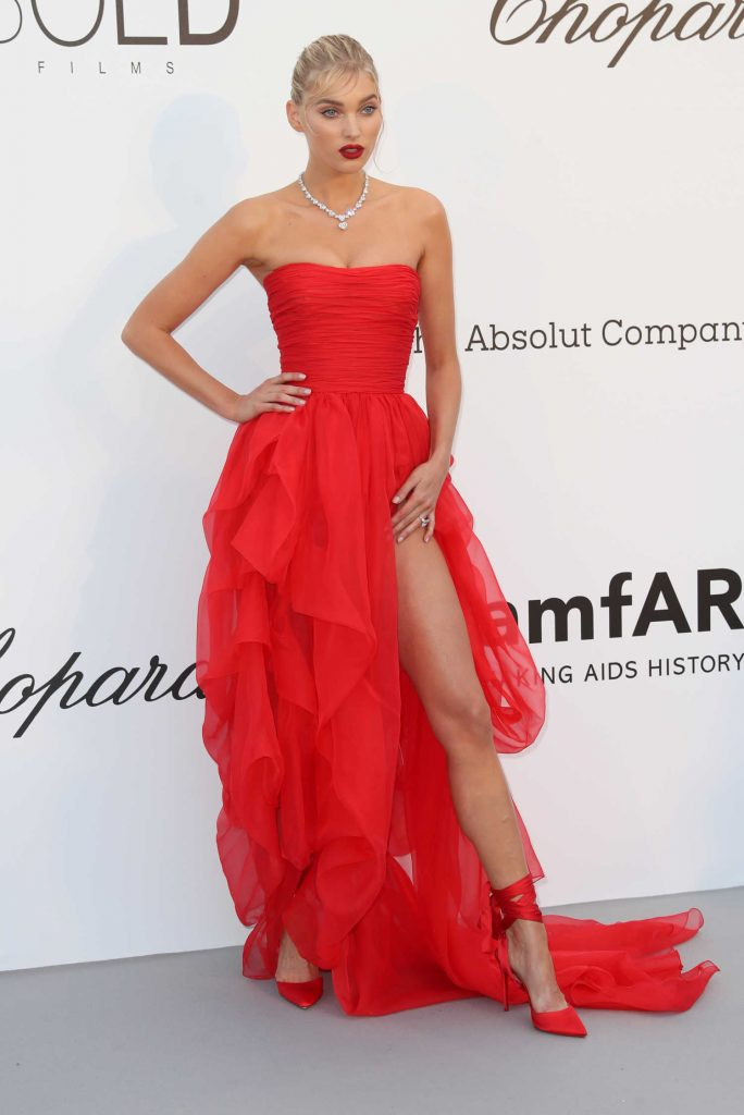Elsa Hosk at amfAR's 25th Cinema Against AIDS Gala During the 71st Cannes Film Festival in Cannes-1