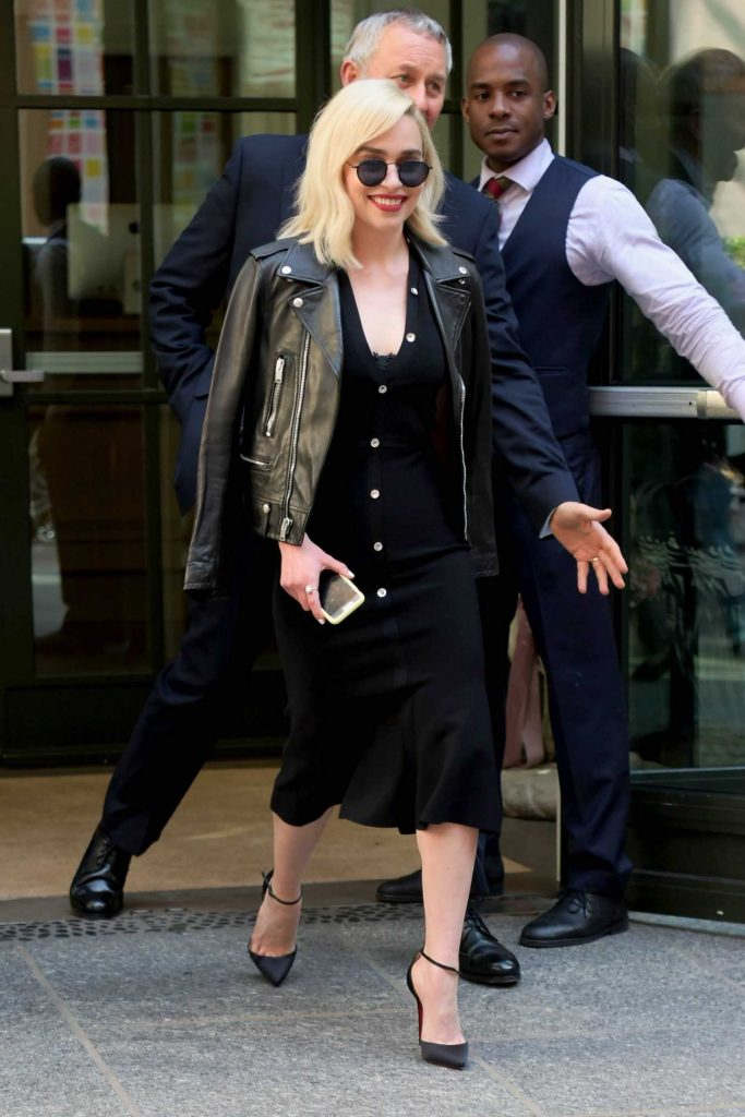 Emilia Clarke Heads to the Tonight Show in New York-1