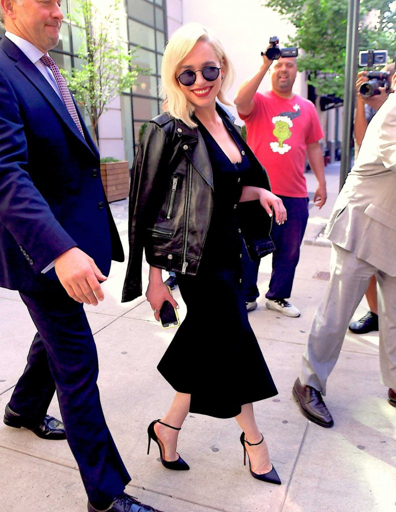 Emilia Clarke Heads to the Tonight Show in New York-4