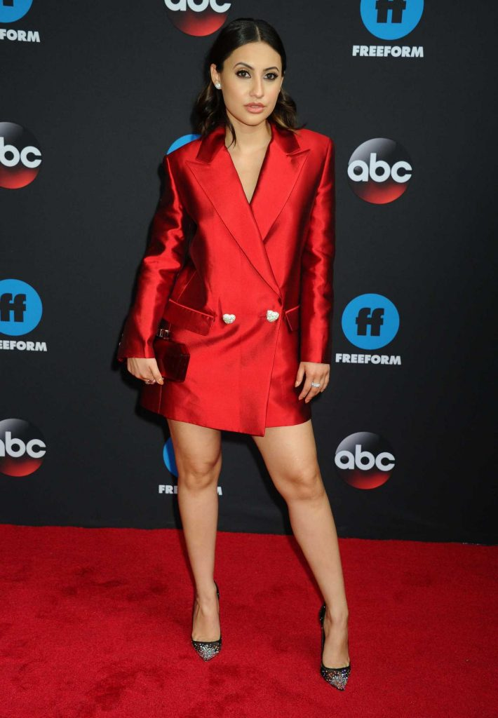 Francia Raisa at Disney ABC Upfront Presentation in New York City-1