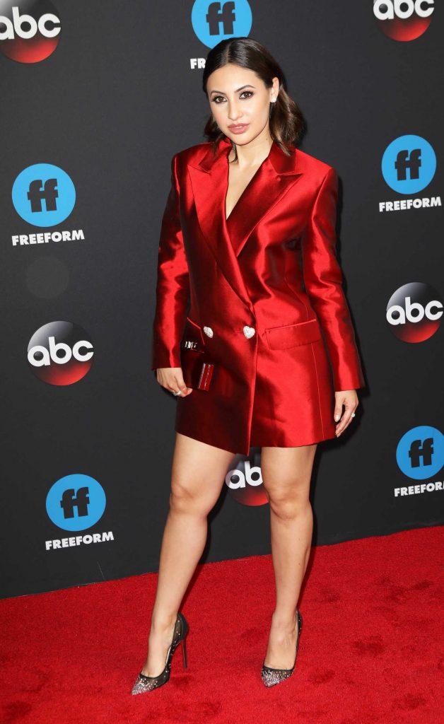 Francia Raisa at Disney ABC Upfront Presentation in New York City-2