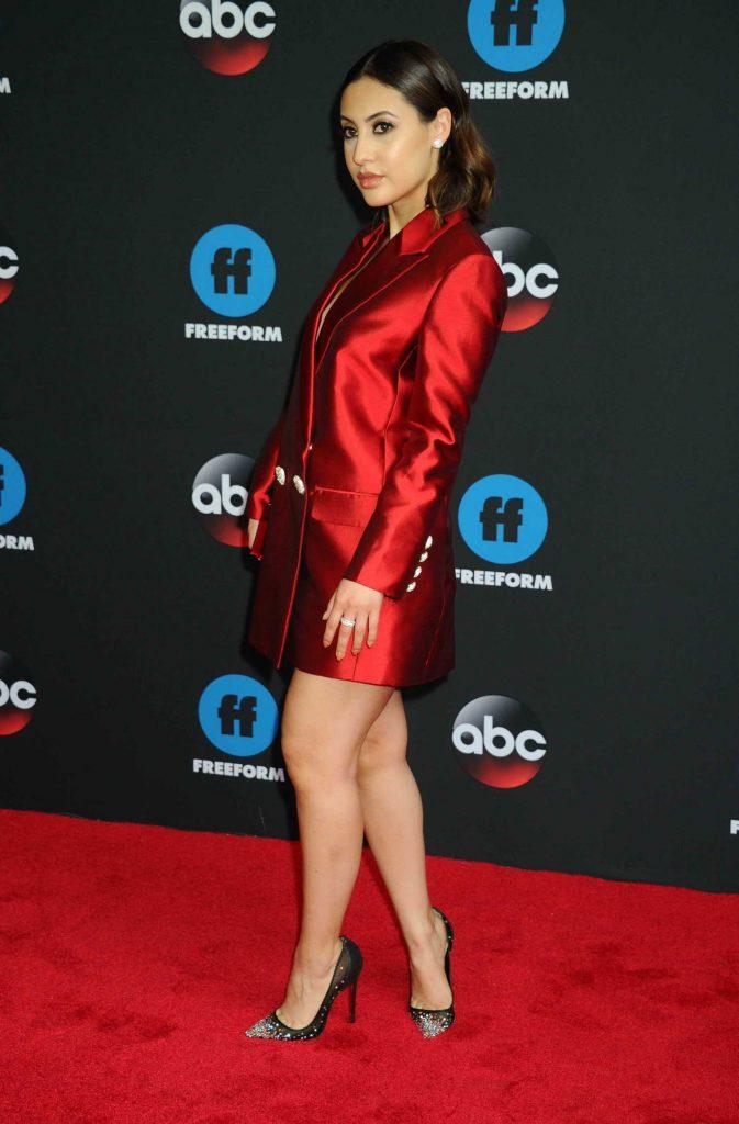Francia Raisa at Disney ABC Upfront Presentation in New York City-3