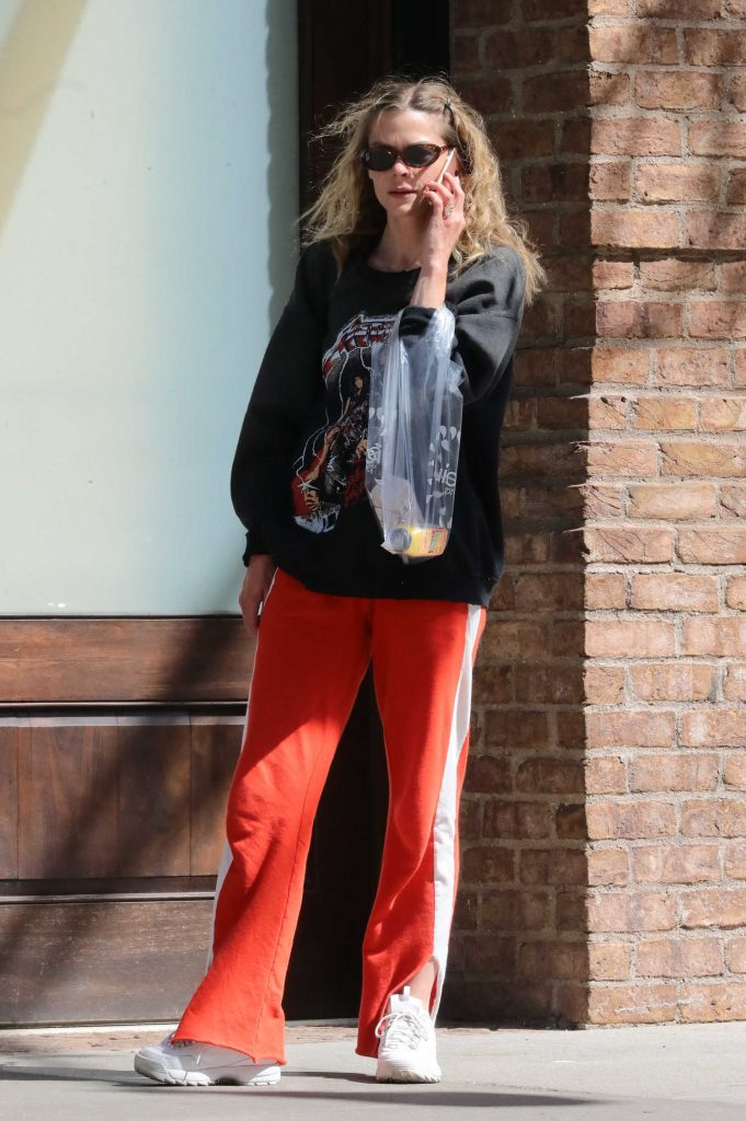 Jaime King Talks on Her Phone Out in New York City-1