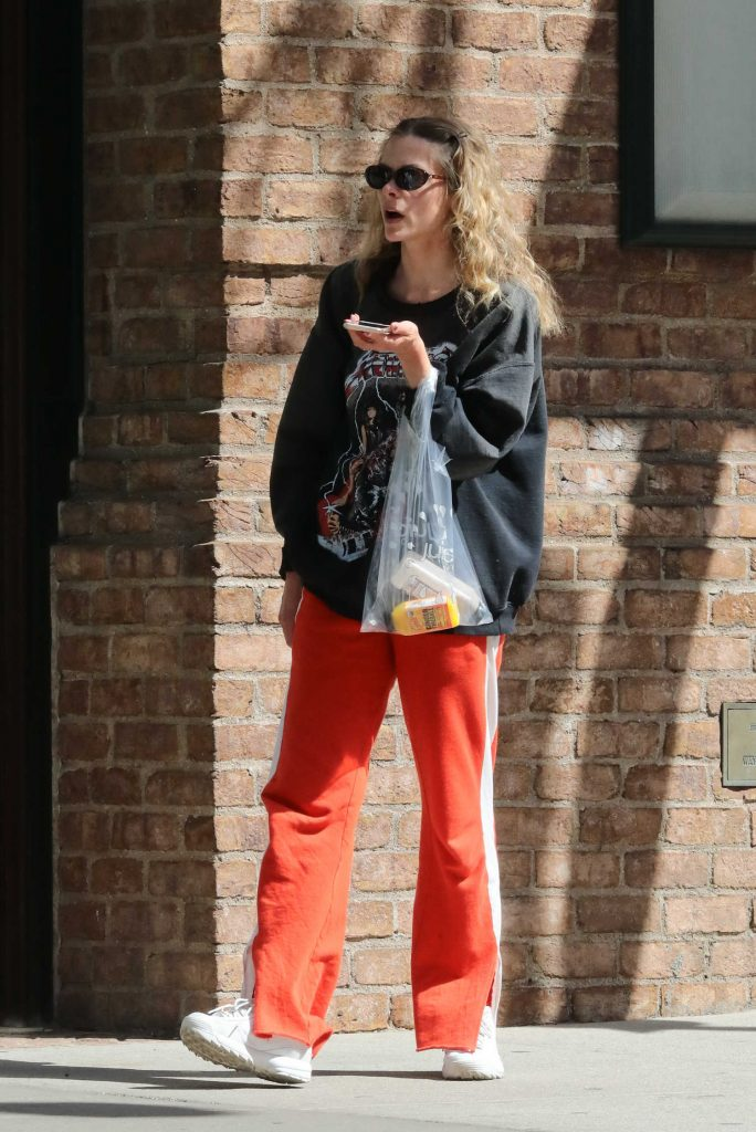 Jaime King Talks on Her Phone Out in New York City-3