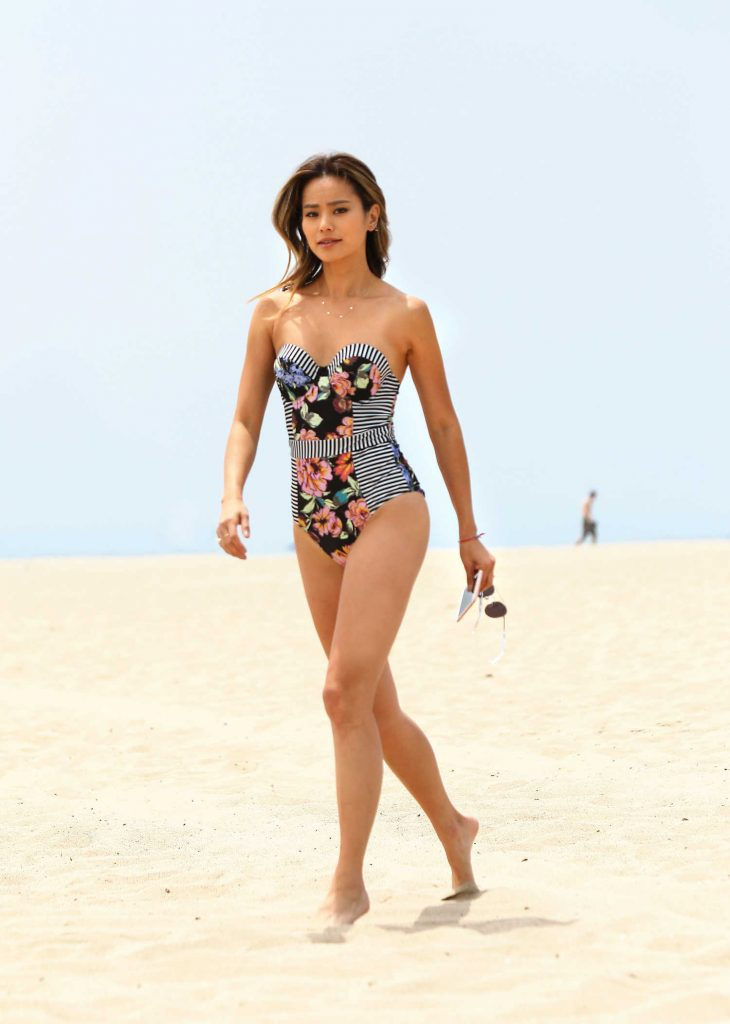 Jamie Chung on the Beach in Miami-1