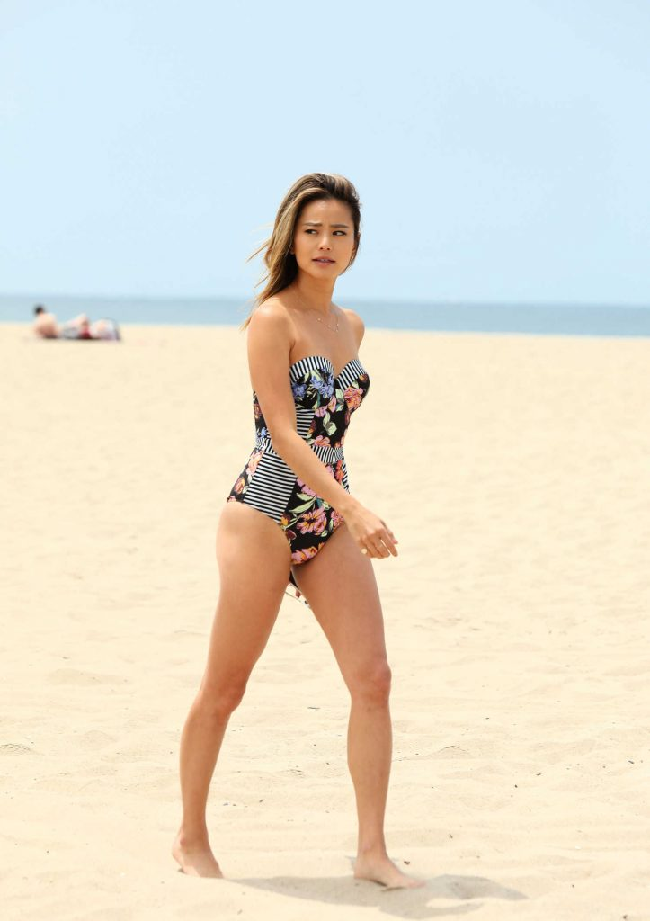 Jamie Chung on the Beach in Miami-4