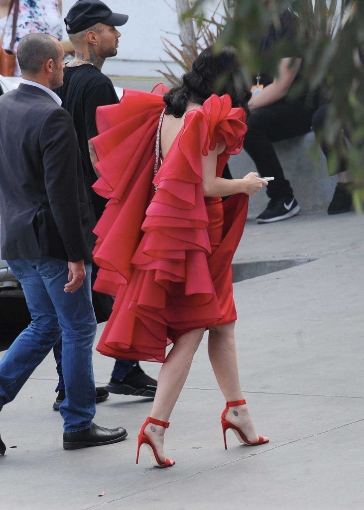Katy Perry Arrives at the American Idol Live Show in Los Angeles-5
