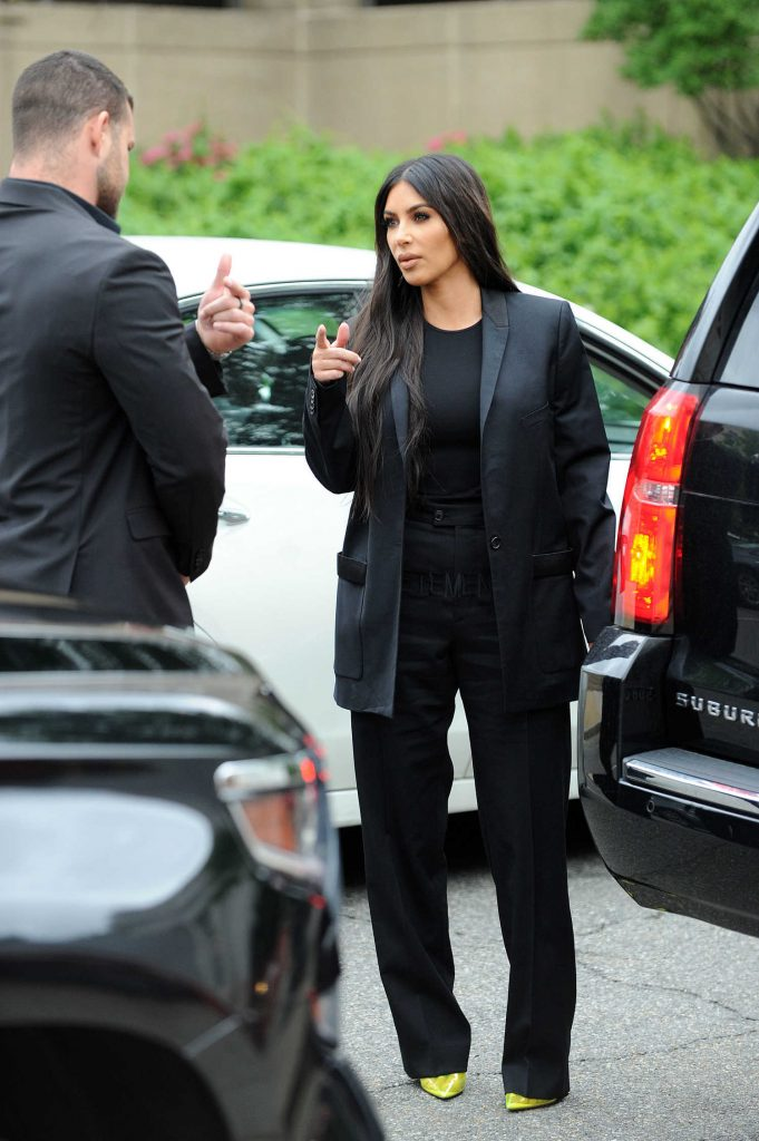 Kim Kardashian Visits The White House in Washington-1