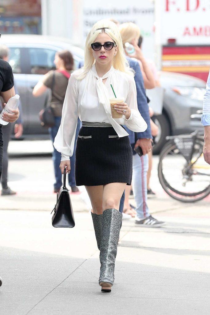 Lady Gaga Leaves the Studio in New York City-1