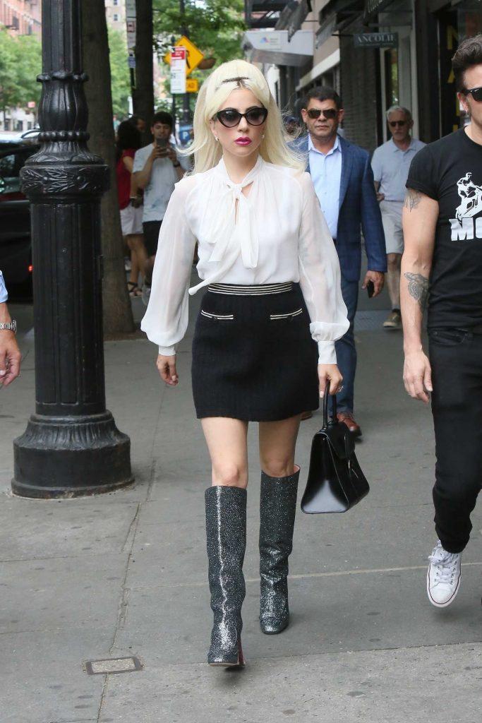 Lady Gaga Leaves the Studio in New York City-2
