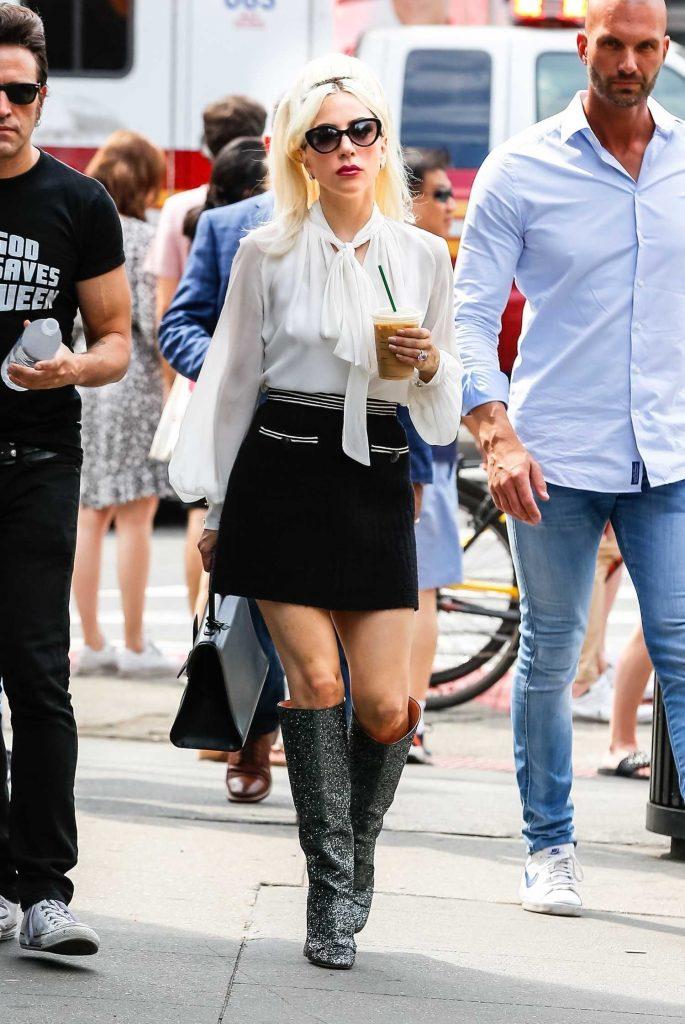 Lady Gaga Leaves the Studio in New York City-3