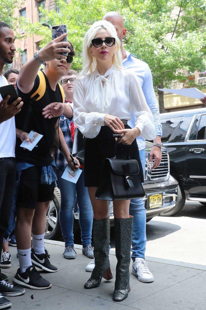 Lady Gaga Leaves the Studio in New York City-5