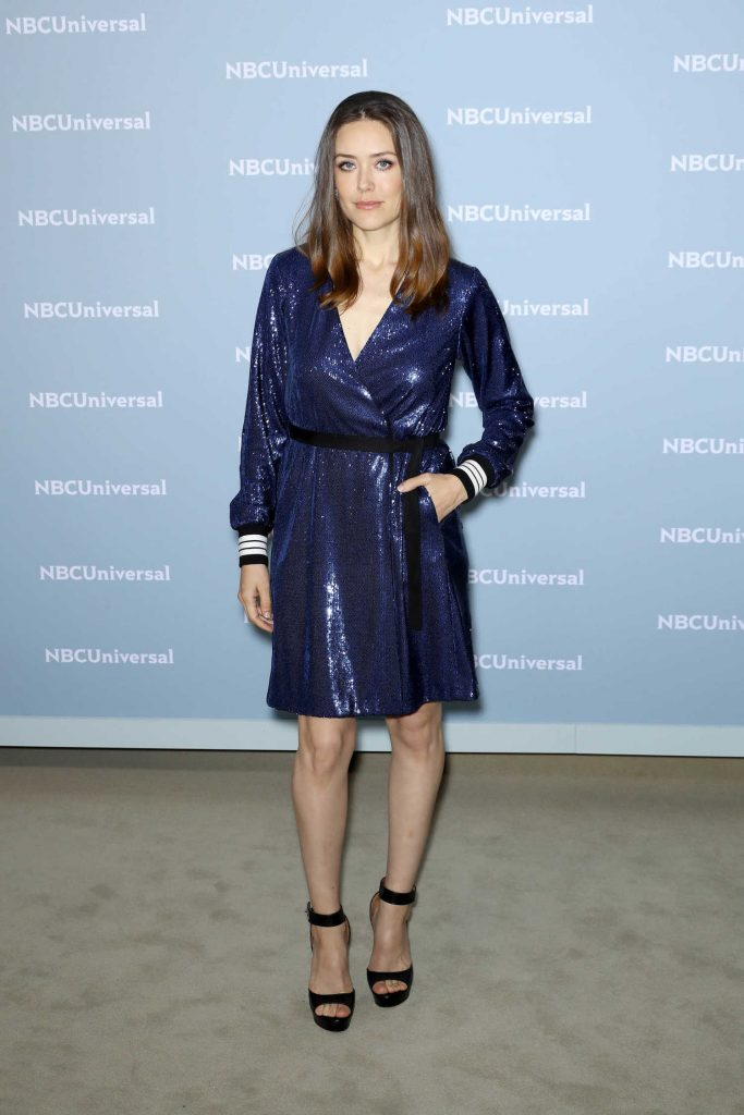 Megan Boone at NBCUniversal Upfront Presentation in New York City-1