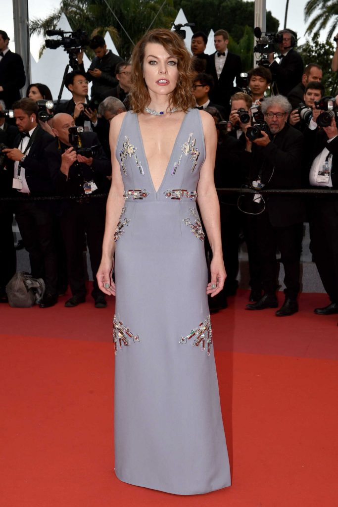 Milla Jovovich at the Burning Premiere During the 71st Cannes Film Festival in Cannes-1