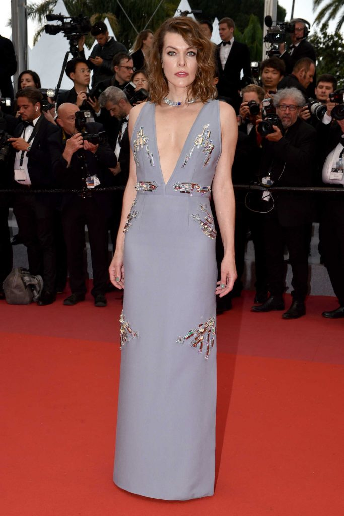 Milla Jovovich at the Burning Premiere During the 71st Cannes Film Festival in Cannes-2