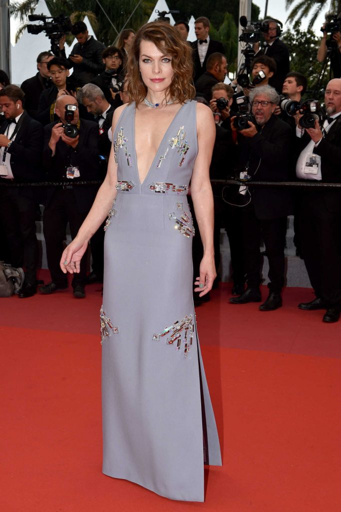 Milla Jovovich at the Burning Premiere During the 71st Cannes Film Festival in Cannes-3