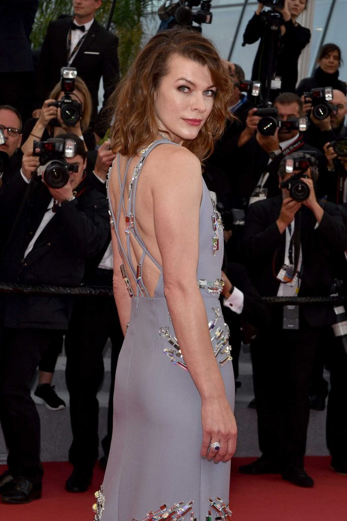 Milla Jovovich at the Burning Premiere During the 71st Cannes Film Festival in Cannes-4