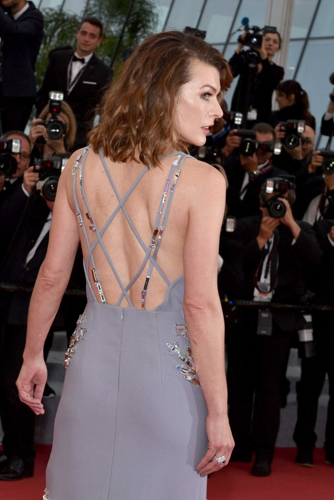 Milla Jovovich at the Burning Premiere During the 71st Cannes Film Festival in Cannes-5