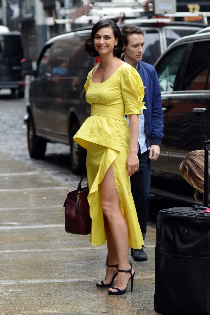 Morena Baccarin Arrives at NBC Studios in New York City-3