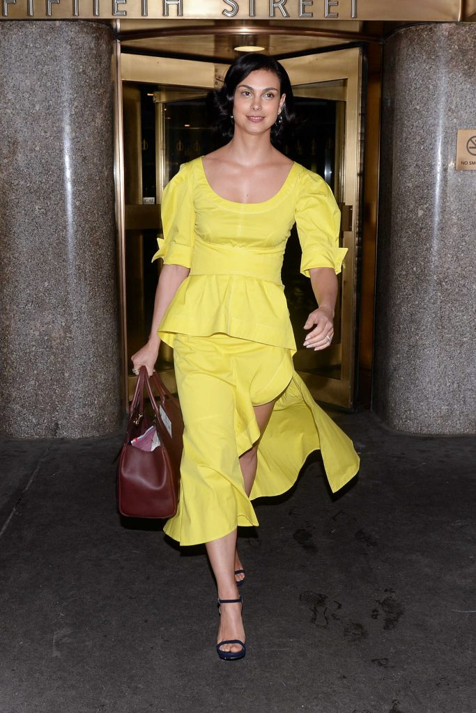Morena Baccarin Arrives at NBC Studios in New York City-5
