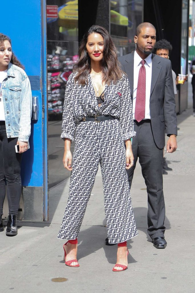 Olivia Munn Arrives at Good Morning America Show in New York City-1