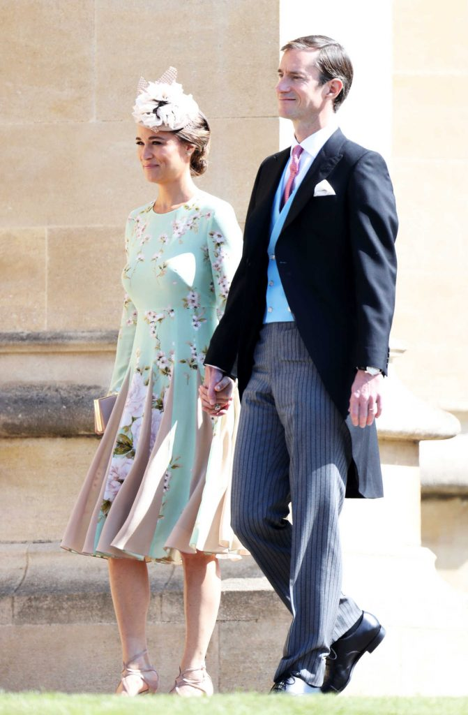 Pippa Middleton Arrives for the Wedding of Prince Harry and Meghan Markle at St George's Chapel in Windsor-1