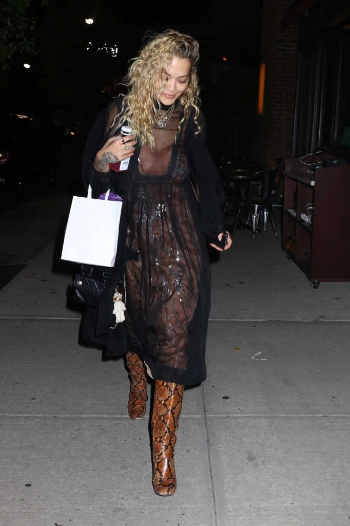 Rita Ora Leaves Dinner from Mr Chow in New York City-1