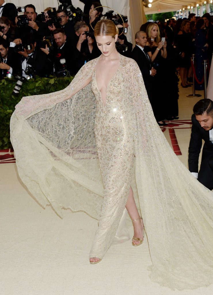 Rosie Huntington-Whiteley at 2018 Heavenly Bodies: Fashion and The Catholic Imagination Costume Institute Gala in New York City-2
