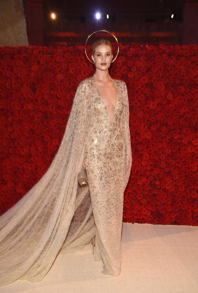 Rosie Huntington-Whiteley at 2018 Heavenly Bodies: Fashion and The Catholic Imagination Costume Institute Gala in New York City-4