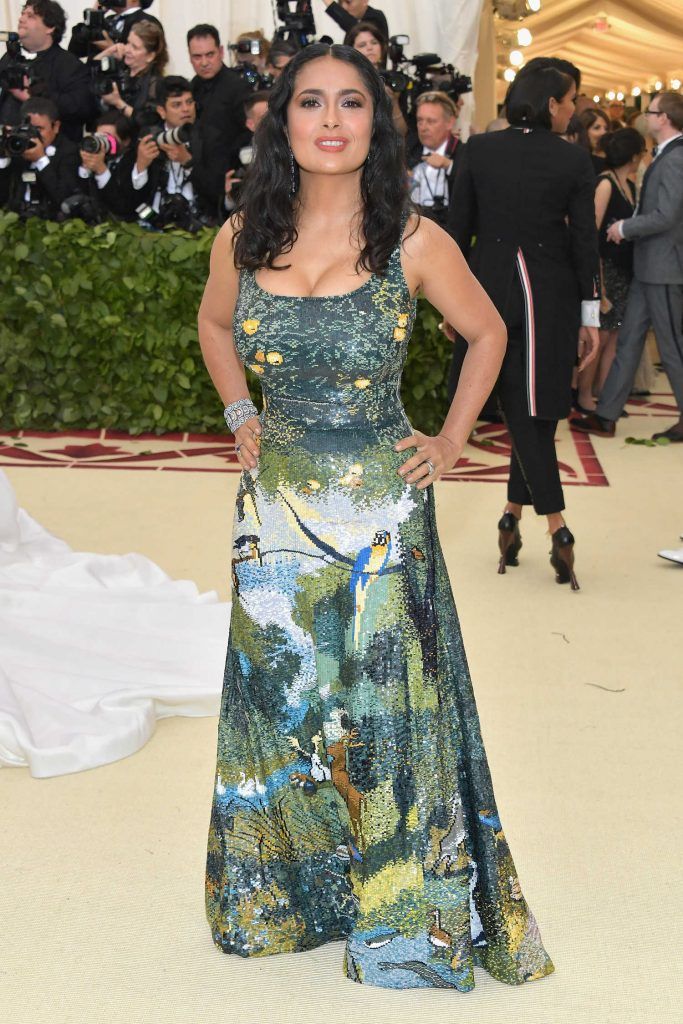 Salma Hayek at 2018 Heavenly Bodies: Fashion and The Catholic Imagination Costume Institute Gala in New York City-1