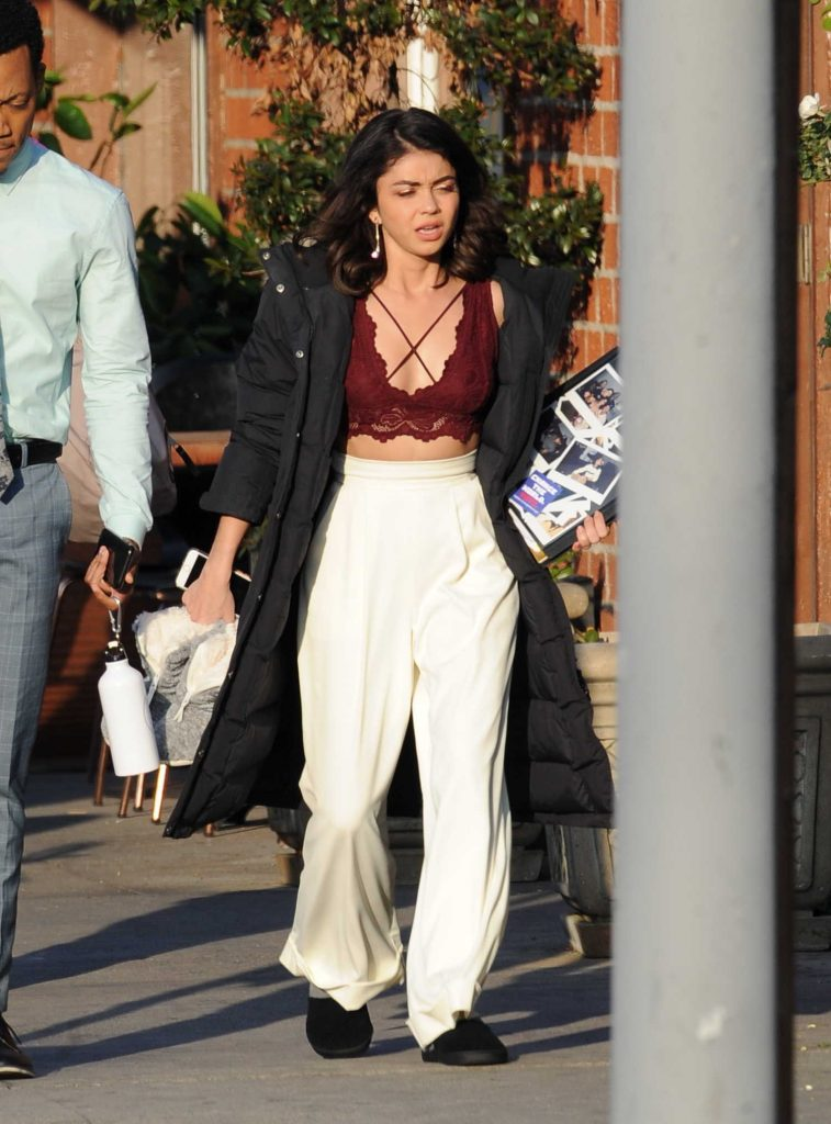 Sarah Hyland on the Set of The Wedding Year in Hollywood-1