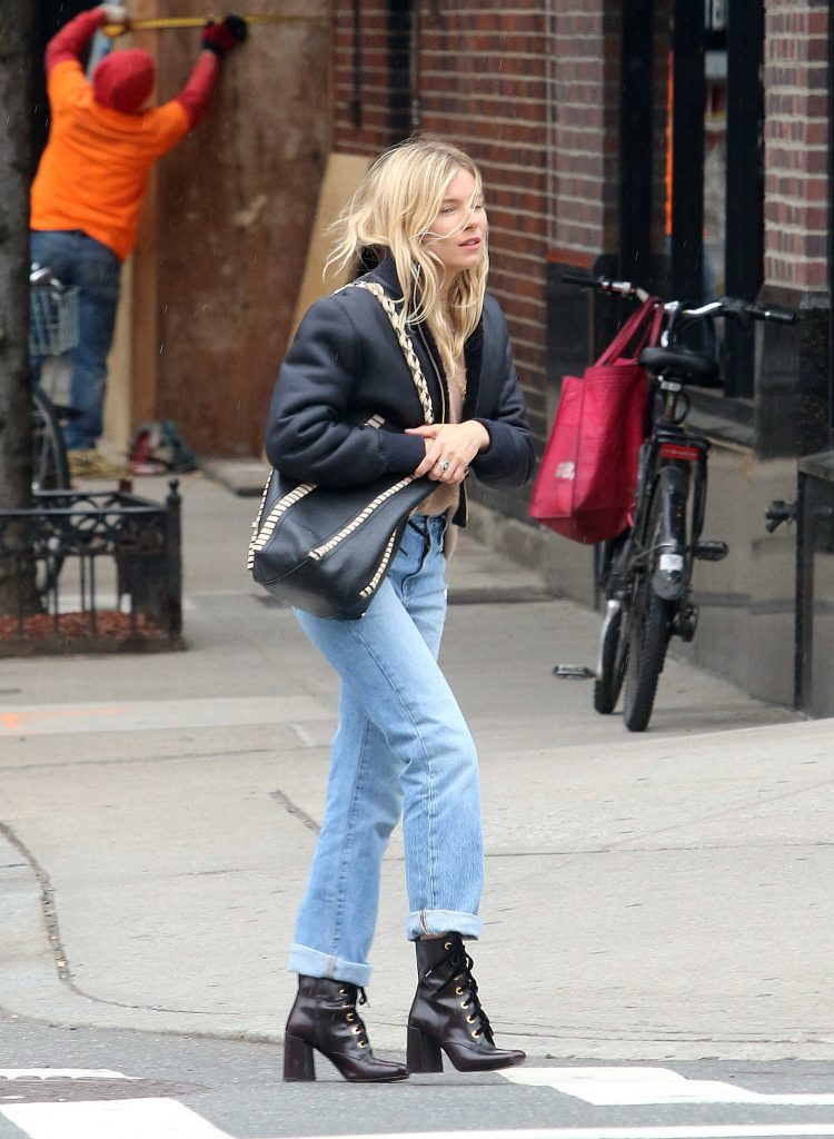 Sienna Miller Takes a Taxi in New York City-1