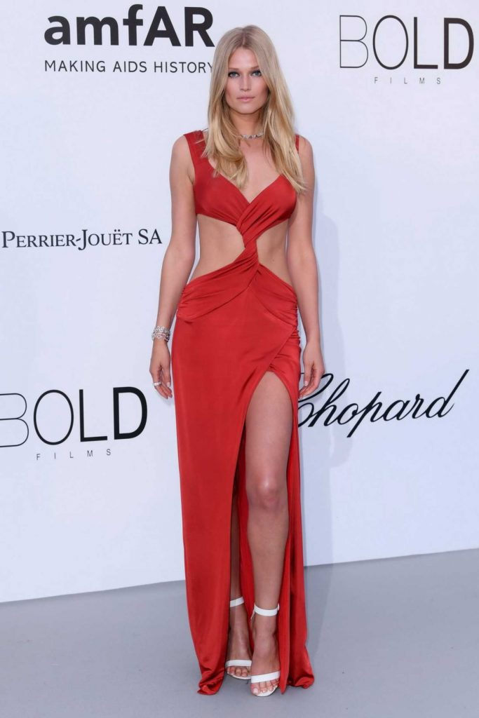 Toni Garrn at amfAR's 25th Cinema Against AIDS Gala During the 71st Cannes Film Festival in Cannes-1