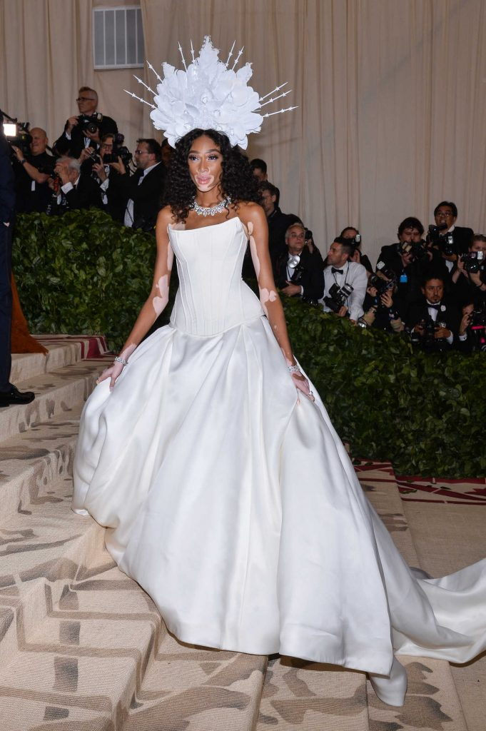 Winnie Harlow at 2018 Heavenly Bodies: Fashion and The Catholic Imagination Costume Institute Gala in New York City-1