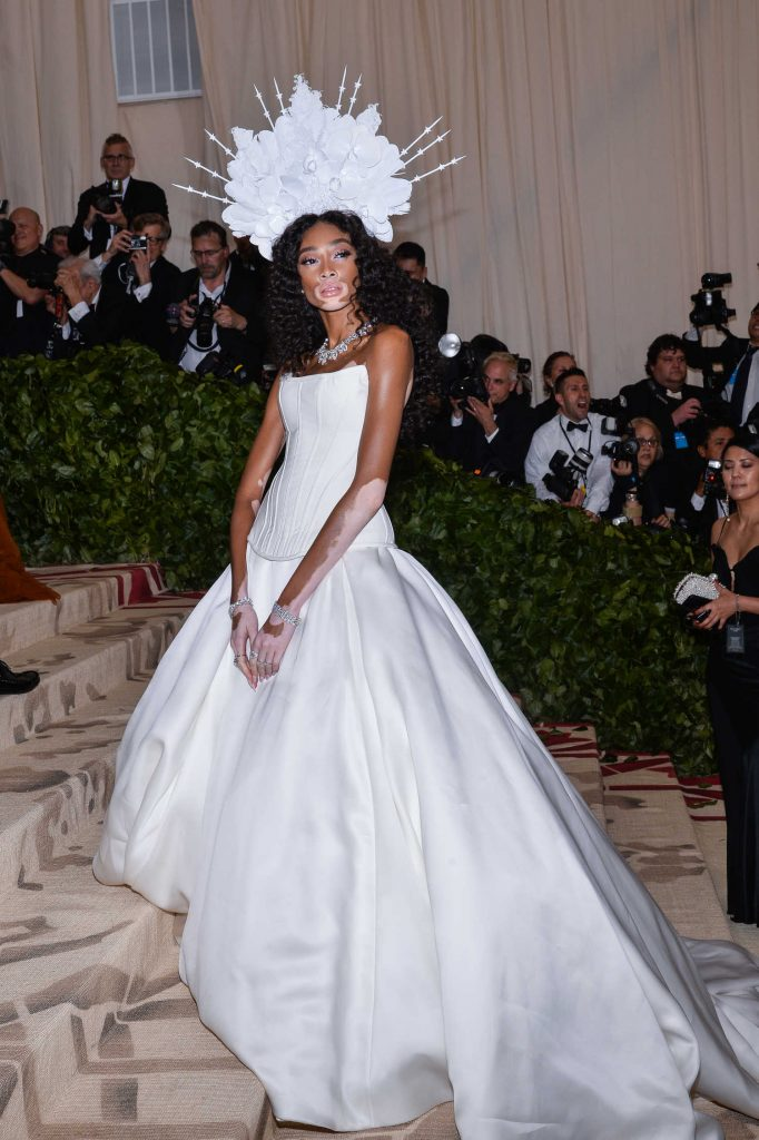 Winnie Harlow at 2018 Heavenly Bodies: Fashion and The Catholic Imagination Costume Institute Gala in New York City-3
