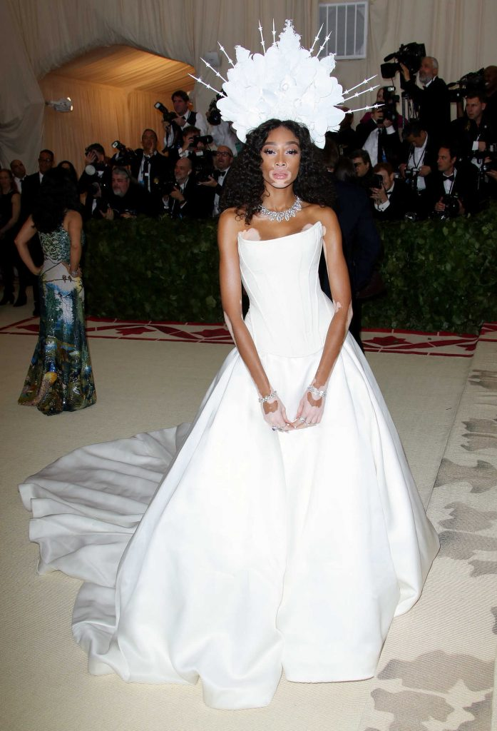 Winnie Harlow at 2018 Heavenly Bodies: Fashion and The Catholic Imagination Costume Institute Gala in New York City-4