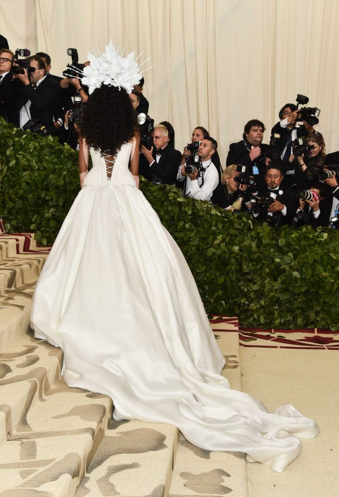 Winnie Harlow at 2018 Heavenly Bodies: Fashion and The Catholic Imagination Costume Institute Gala in New York City-5