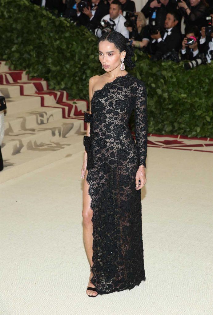 Zoe Kravitz at 2018 Heavenly Bodies: Fashion and The Catholic Imagination Costume Institute Gala in New York City-1