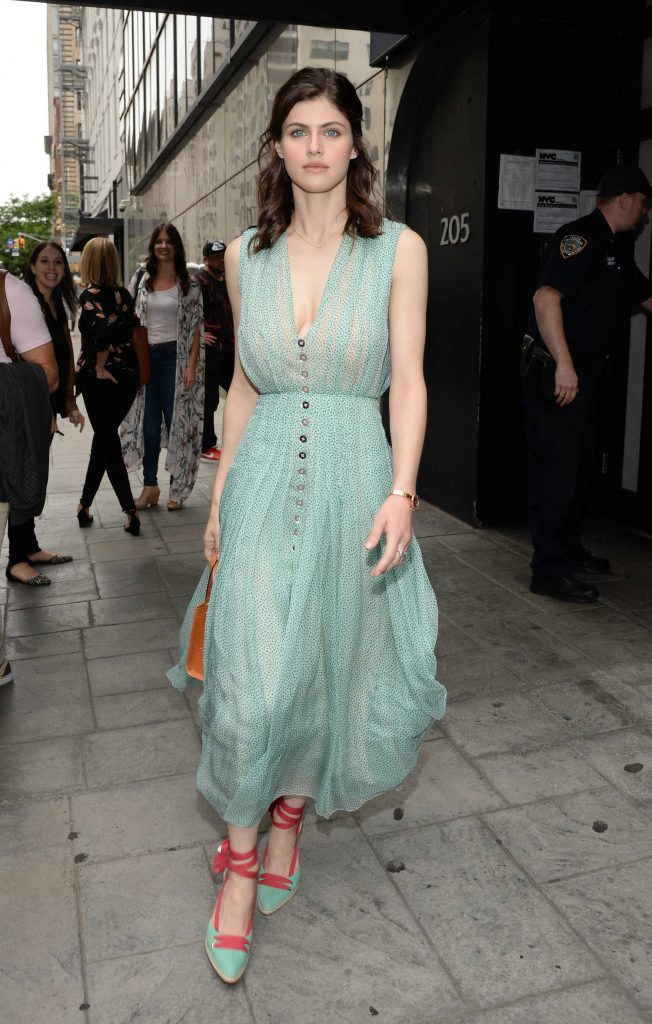 Alexandra Daddario Arrives at Good Day New York TV Show in New York-1