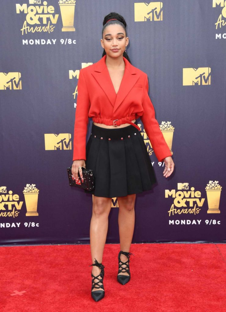 Amandla Stenberg Attends the 2018 MTV Movie and TV Awards in Santa Monica-2