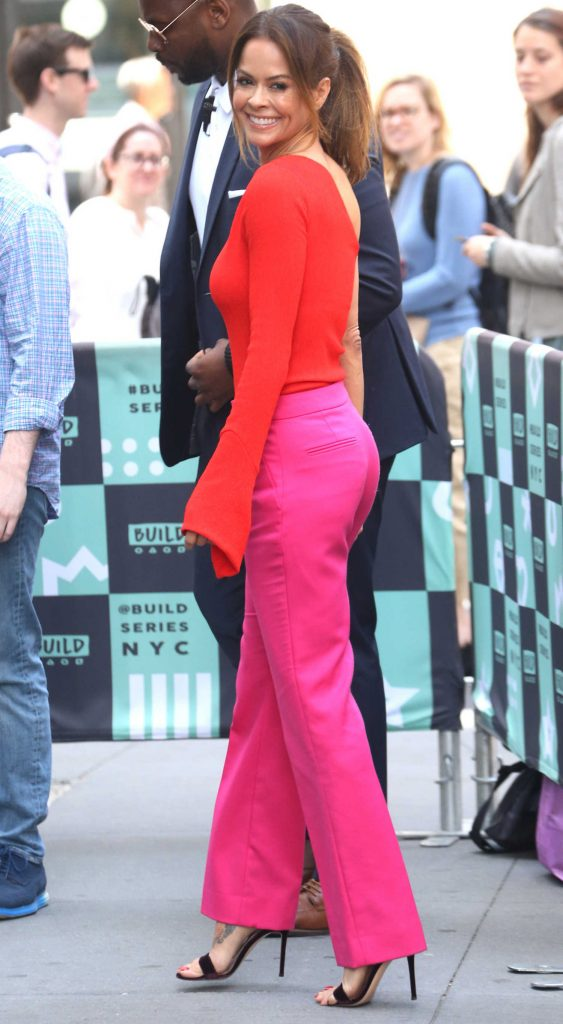 Brooke Burke Visits AOL Build Studios in New York City-4
