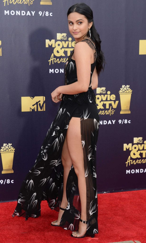 Camila Mendes Attends the 2018 MTV Movie and TV Awards in Santa Monica-3