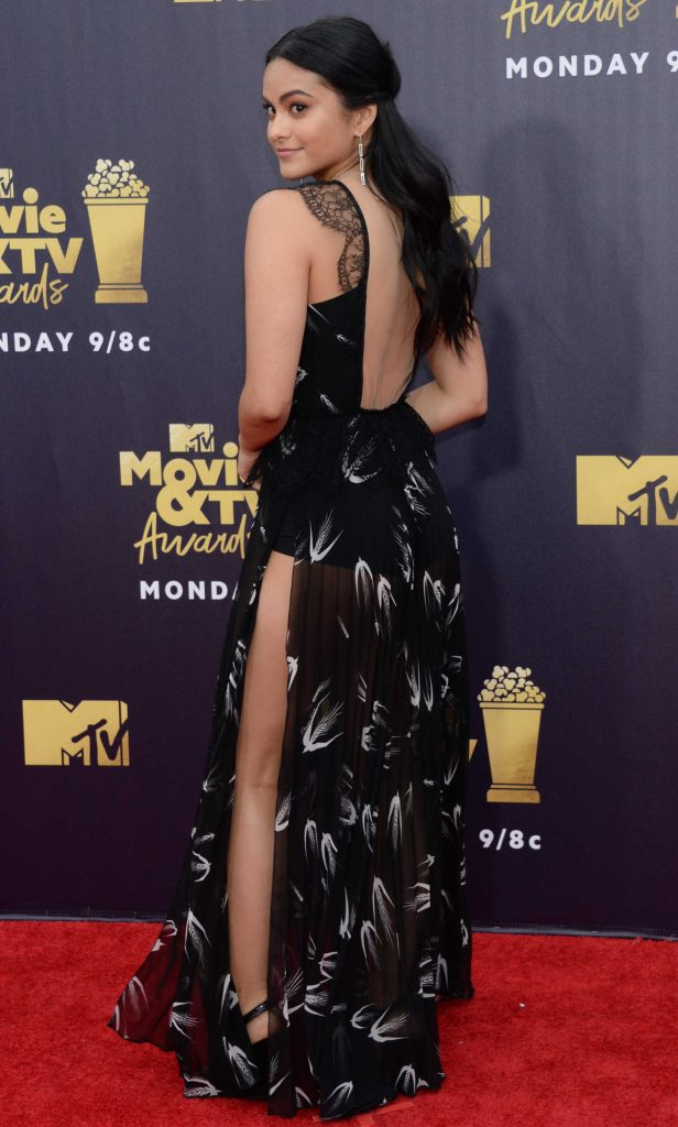 Camila Mendes Attends the 2018 MTV Movie and TV Awards in Santa Monica-4