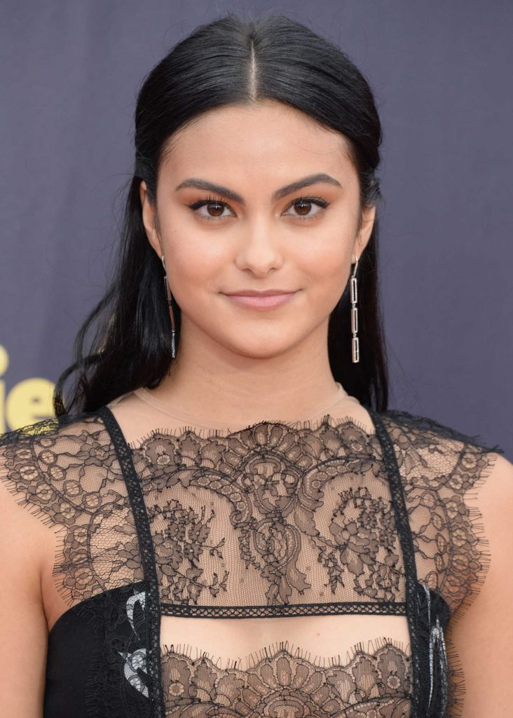 Camila Mendes Attends the 2018 MTV Movie and TV Awards in Santa Monica-5