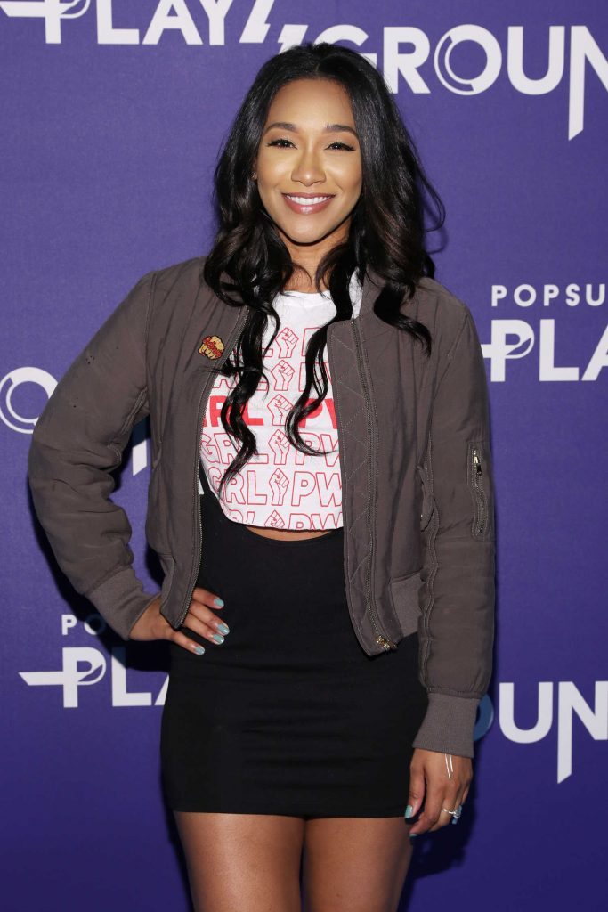 Candice Patton at the Screen Queens Panel in New York City-2