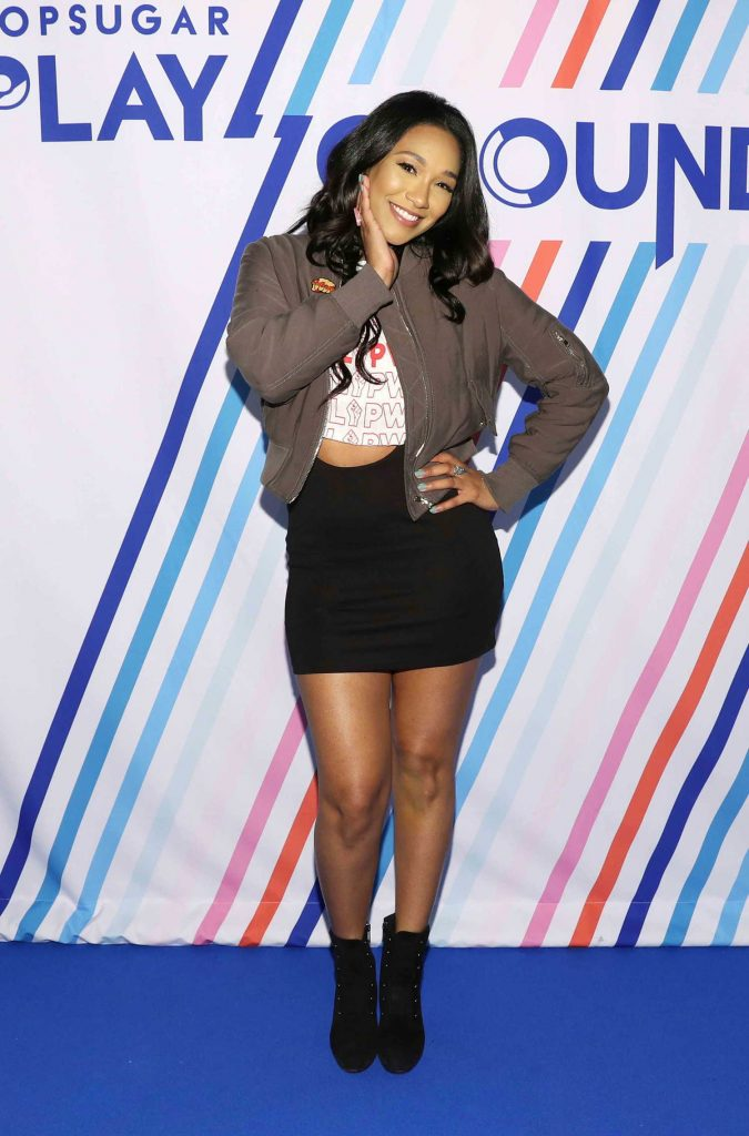 Candice Patton at the Screen Queens Panel in New York City-3