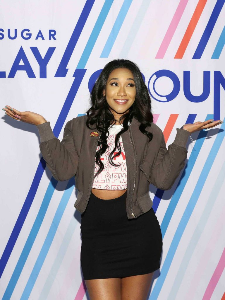 Candice Patton at the Screen Queens Panel in New York City-5