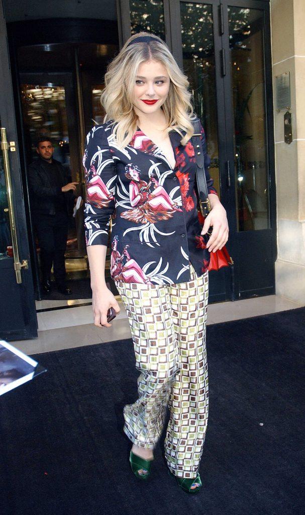 Chloe Moretz Leaves the Plaza Athenee Hotel in Paris-2